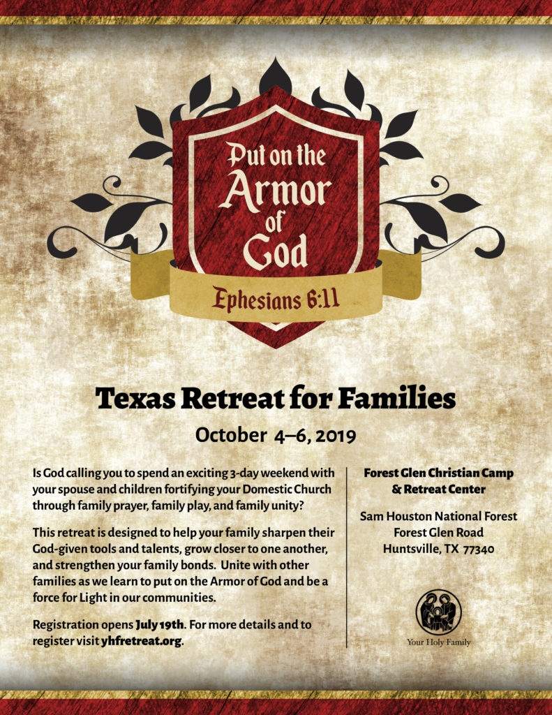 Texas Retreat for Families 2019 - Your Holy Family